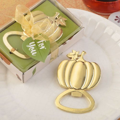Gold Pumpkin Bottle Opener Halloween Table Gift Favor
